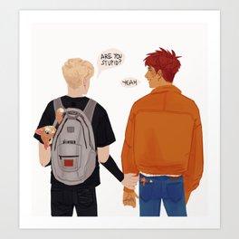Andrew and Neil fanart Art Print