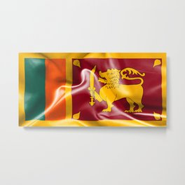Sri Lanka Flag Metal Print