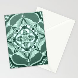 Radial 19 - Mint/Teal Stationery Cards