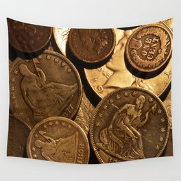 Cool Old Coins Wall Tapestry