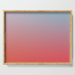 ALL GOOD THINGS - Minimal Plain Soft Mood Color Blend Prints Serving Tray