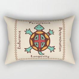 Turtle animal spirit Rectangular Pillow