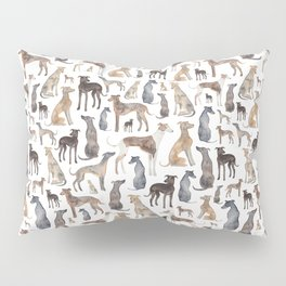 Greyhounds and Whippets Pillow Sham