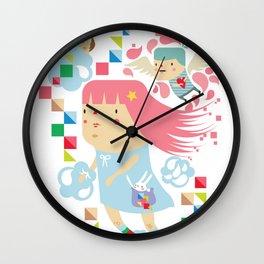 Polypop FlyGirl Wall Clock