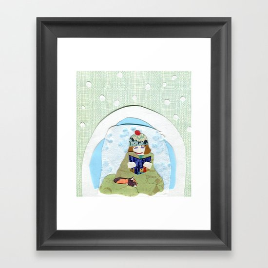 Happy Igloo Framed Art Print