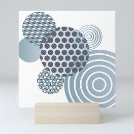 Blue Circles Mini Art Print