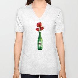 Dudes Love Roses (Green) Unisex V-Neck