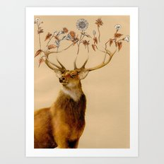 Holistic Horns Art Print