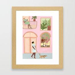 Indoor Kitties Gerahmter Kunstdruck