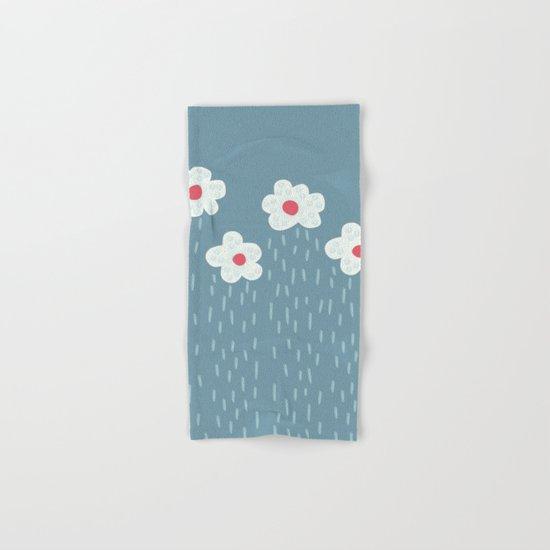 Rainy Flowery Clouds Hand & Bath Towel
