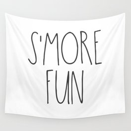S'MORE FUN TEXT Wall Tapestry