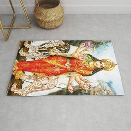 Hindu Durga 3 Rug