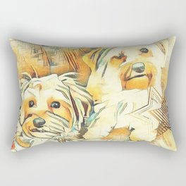 Penny and Copper Yorkie Mixes Rectangular Pillow