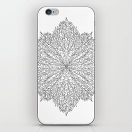 flower line art - white iPhone Skin