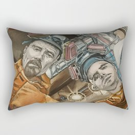 Heisenberg and Jesse, oil painting Rectangular Pillow