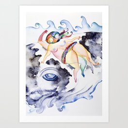 Swimmer, Too Art Print