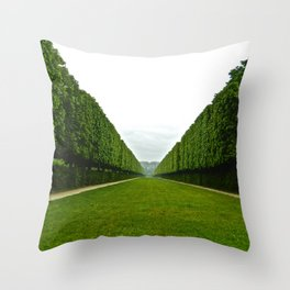 Between The Hedges Throw Pillow