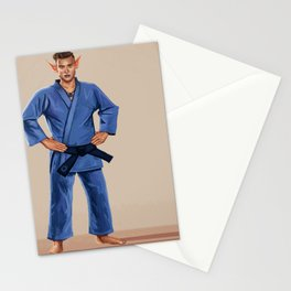 Karate Elf Stationery Cards