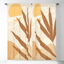 ABSTRACT ART - TROPICAL 06 Blackout Curtain