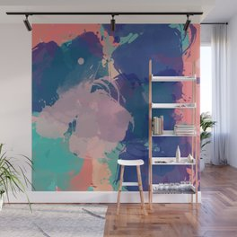 Pastel Abstract Summer Pattern Wall Mural