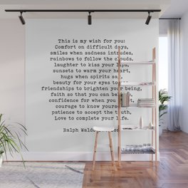 Ralph Waldo Emerson Quote, This Is My Wish For You, Motivational Quote, Wall Mural