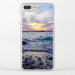 Colorful Lake Waco Clear iPhone Case