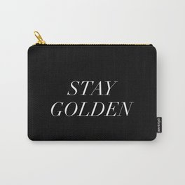 Stay Golden White Typography Carry-All Pouch
