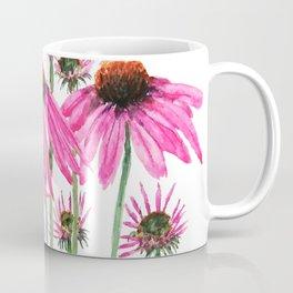 pink coneflowers watercolor Coffee Mug