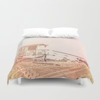 "bruno mars Duvet Covers featuring Bruno Mars ""Billionaire"" Video Lifeguard Tower by SoCal Chic Photography"