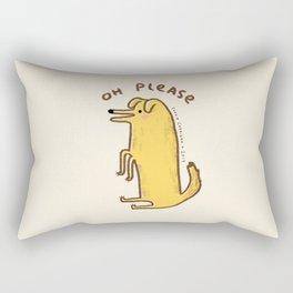 Honest Dog Rectangular Pillow