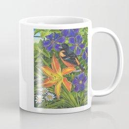 Northern Oriole and Day Lily Coffee Mug