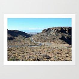 Mountains of Gran Canaria Art Print