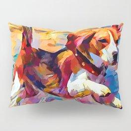 Beach Beagle Pillow Sham