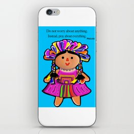 Phil.4:6 Do Not Worry Doll iPhone Skin