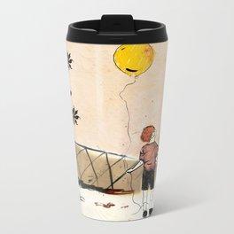 the boy with the globe Metal Travel Mug