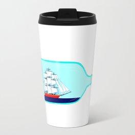 A Ship in a Bottle Travel Mug