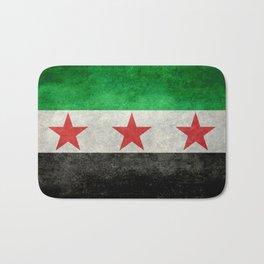 Syrian independence flag, vintage style Bath Mat