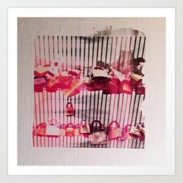 LOVE LOCK Art Print