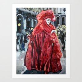 Venice Carnival Art Print