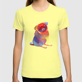 Happy Rainbow Pug T-shirt