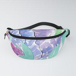 Lavender Floral Watercolor Bouquet Fanny Pack