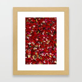 Padlocks of Love Framed Art Print