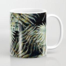 Jungle Dark Tropical Leaves #decor #society6 #pattern #style Coffee Mug