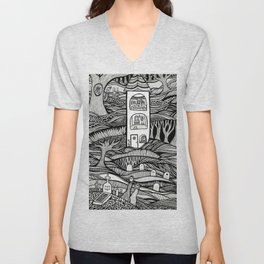 Day of the Dead Unisex V-Neck