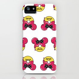 Strawberry Glazed Donut Mouse! iPhone Case