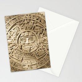 AZTEC CALENDAR MEXICO ART Stationery Cards