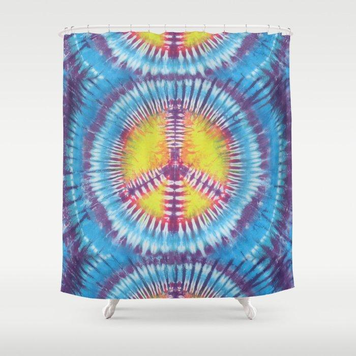 Peace Tie Dye Shower Curtain