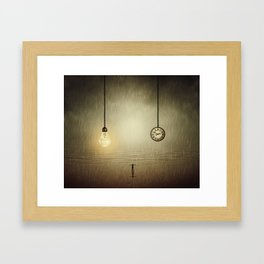 idea and time concepts Framed Art Print