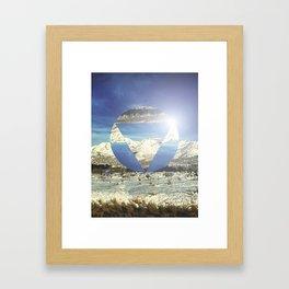 Snowy Earth Framed Art Print