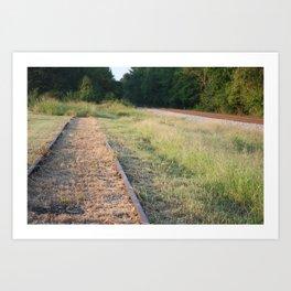 Counter Rail Art Print
